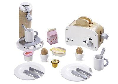 Frühstücksset mit Toaster und Kaffeemaschine Holz 4856