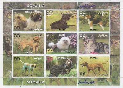 DOGS CANINES PUPPY ANIMAL SOMALIA 2000 MNH STAMP SHEETLET