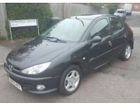 PEUGEOT 206, 1.4, GREAT FIRST CAR, CHEAP INSURANCE AND TAX, 1 YEAR MOT, GREAT DRIVE AND CONDITION