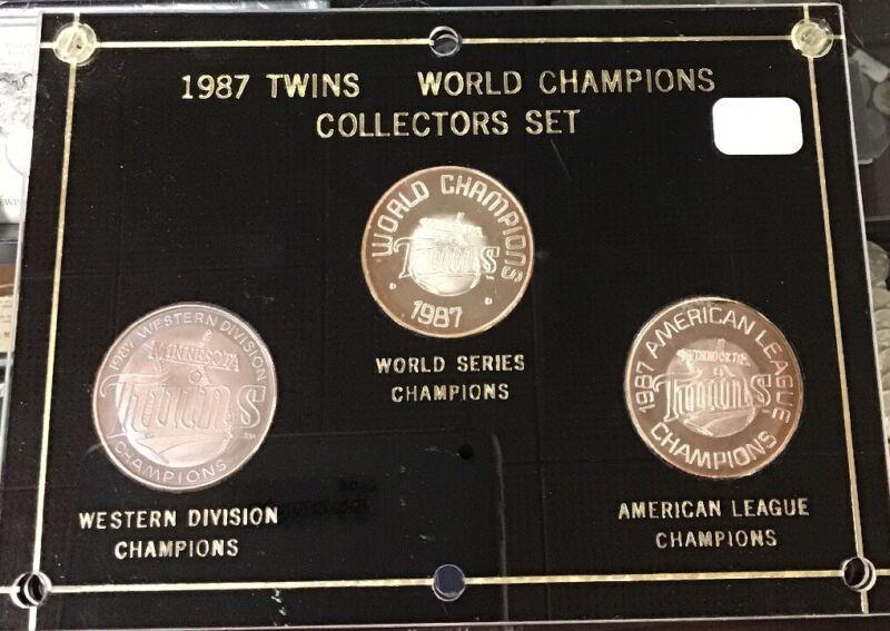 1987 Minnesota Twins World Series Champions Collectors Set RARE ⚾️