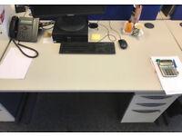 office rectangle white desk Senator