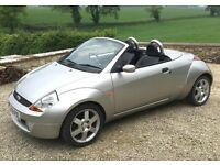 Ford Streetka, full MOT, new front tyres, cheap way to go topless this Summer!