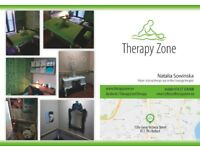 Therapeutic, analgesic and relaxing massage treatments by physiotherapist