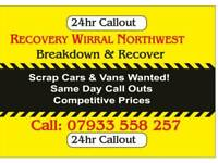 RECOVERY WIRRAL NORTHWEST SCRAP CARS VANS WANTED WIRRAL WALES CHESTER LIVERPOOL RUNCORN