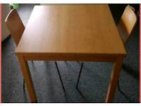 Oak Effect Extendable Dining Table and Chairs
