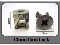 15mm Cam Lock Fitting for Flat Pack furniture EM1504 (Pack of 10)