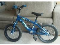 Blue kids small bike