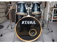 TAMA Rockstar Custom 5-Piece drum kit shell pack set, RoadPro hardware, rockbag cases good condition