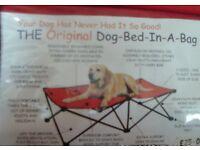 Dog camp bed