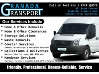 Granada Transport, Trafford Man & Van Services. House, Flat, Office, Waste Removals & Clearances