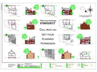 Online, DRAWINGS FOR PLANNING, Architectural Services, Planning Permission, Rear extension, Loft co