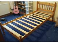 Pine single bed frames (2 available £30 each)
