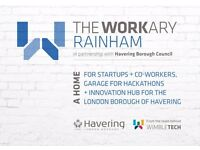 Rainham's most affordable coworking space! Desk space, meeting rooms, kitchen facilities and more!!