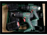 2 Bosch drill psb 18 combo spares or repair