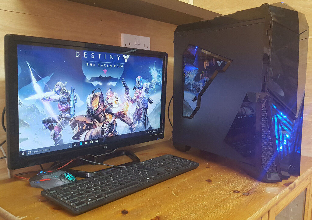 Gaming PC Computer Tower Intel i7 4770 16GB / 240GB SSD 2TB HDD / RX550 / Win 10 Tower only