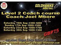 Level 2 Basketball Coach course September Staines Surrey