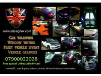 car wrapping, window tinting, shop signs, banner, hanging sign, vehicle livery, a board, site boards
