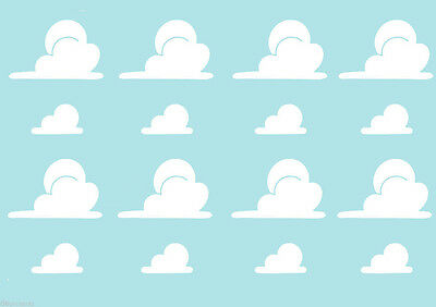 Toy Story style Clouds Andy's Bedroom Wall Art Sticker Decal Decoration kids