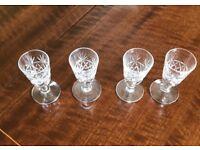 Crystal liquer glasses x 4 Dartington-Royal Brierley