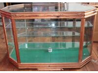 Handmade Glass Cabinet - Great for displays in shops - Removable Lid and shelves - £70 - Collection