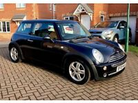 2006 MINI COOPER 1.6, MOT 10 MONTHS, FULL BLACK LEATHER INTERIOR, SERVICE HISTORY, HPI CLEAR