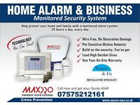 Wireless Intruder Alarm System (1 year warranty with fitting), No Monthly Subscriptions