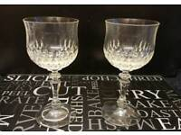 Two vintage crystal glasses
