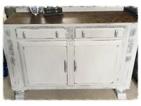 Vintage Art Deco Shabby Chic Sideboard Cabinet