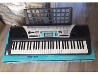 Yamaha PSR-170 Portable Electric Keyboard with manual and power adaptor