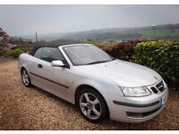 Saab Convertible, 75k FSH, VGC, 2.0t, silver grey leather, 12 months mot, have fun this summer!