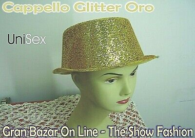 CAPPELLO GLITTER ORO Trendy Dj Shop CAPODANNO DANZA FESTA