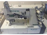 New (hard to find) zoje industrial twin needle coverstich sewing machine e007