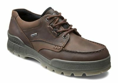 Ecco TRACK II LOW Lace Up Bison Leather Waterproof Gore Tex Comfort Oxford
