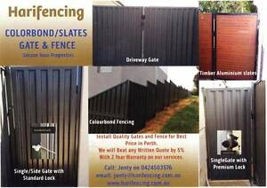 colorbond aluminium Fencing and gates (Harifencing) Caversham Swan Area Preview