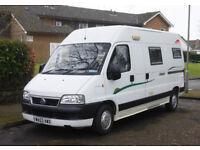 Fiat Trigano Tribute 2 berth camper van with heating, hot water, toilet & shower