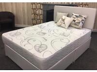 Double Divan base with mattress / headboard