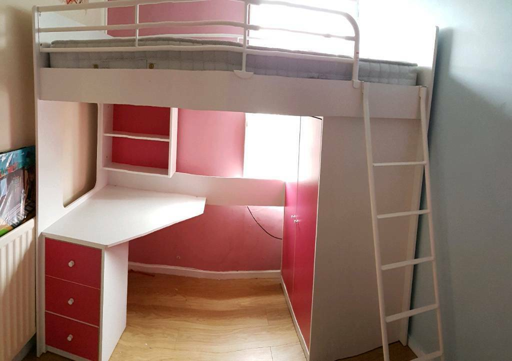 High sleeper bed with storage, | in Bootle, Merseyside ...