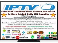 IPTV 1YEAR SUB ANDROID MAGBOXE IOS SMART TV & DEVICES WINDOWS OVER 500 CHANNELS BEST IN UK