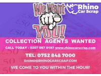 RHINO CAR SCRAP | Are you a scrap dealer? COLLECTION AGENTS WANTED, CALL 07528 487000/0207 097 0197