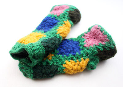 Attractive Hand Crochet Green and Yellow Color Finger less Gloves](Green And Yellow Gloves)