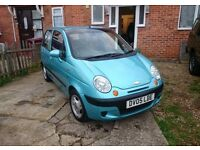 Chevrolet Matiz car Blue cheap mot