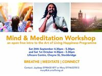 Mind & Meditation Workshop - an intro to the Art of Living