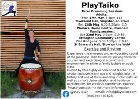 Taiko Drumming Workshops: Family Bubble and Adult sessions
