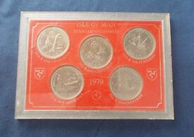 1979 IOM Tynwald Millennium Crown Coin set - Perspex case Collector's Item. Postage Free to UK.