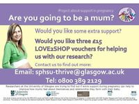 Extra parenting support and the chance to be involved in a research project