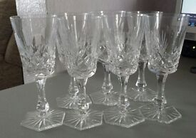 New Crystal wine glasses two sets