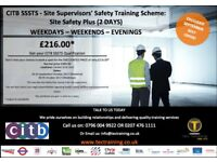CITB Site Safety Plus SSSTS Site Supervisors' Course From £180.00 Weekday - Weekends 02074761111