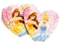10 Disney Princess Belle and Cinderella Pink Heart Christmas Gift Present Tags