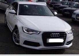 Audi A6 s line in white TOP SPEC!!