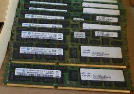 Samsung 48GB (3x 16GB) RAM 4RX4 PC3L-10600R DDR3 ECC Server REG Memory